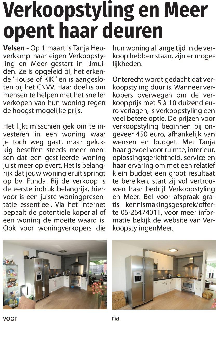 Krantenartikel van De Jutter
