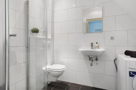Badkamer na verkoopstyling